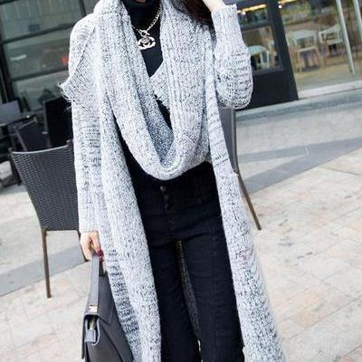Long Sleeves Pure Color High Neck L..