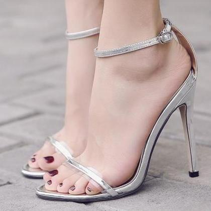 Simple Ankle Straps High Heels Part..