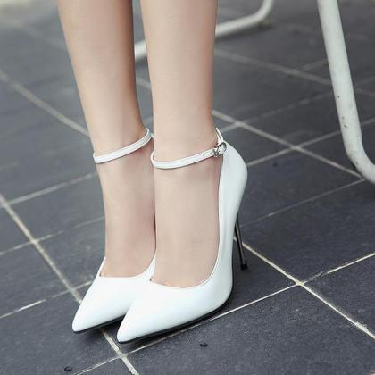 Patent Leather Pointed Toe High Hee..