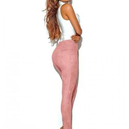 Candy Color Suede Slim Long Skinny ..