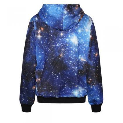 Galaxy Digital Stars Print Pocket D..