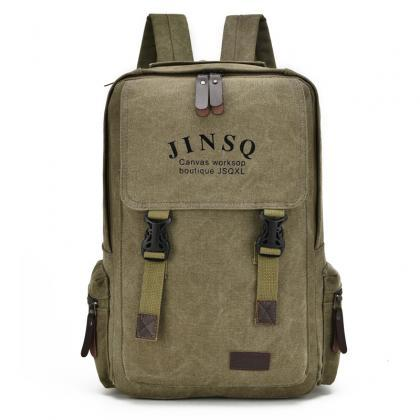 Casual Big Capacity Canvas Backpack