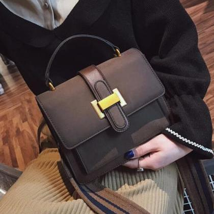 Trendy Belt-Decorated Women Satchel