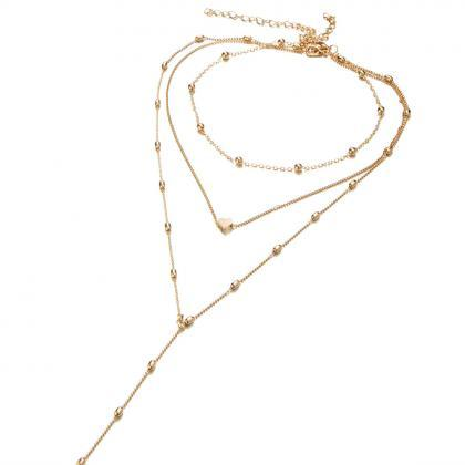 Multilayer Copper Peach Heart Penda..
