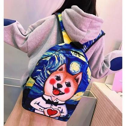 Lovely Cartoon Prints Children Back..
