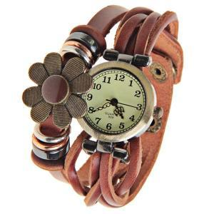 Free Shipping Round Dial Leather Wa..