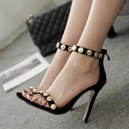 Circle Metal Decorate Ankle Wrap Su..