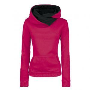 Pure Color Cotton Hooded Coat with ..