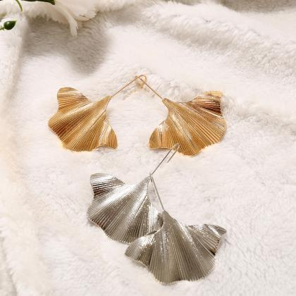 Alloy Leaf Creative Earrings