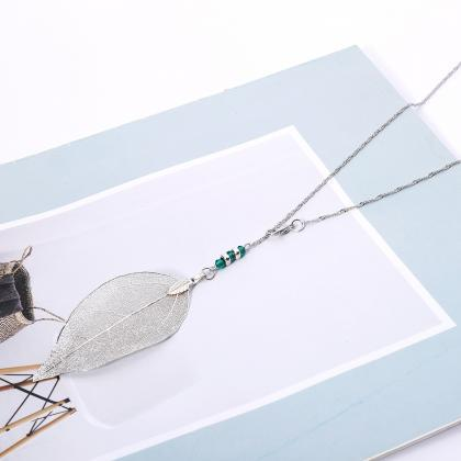 Simple Metal Leaf Body Chain