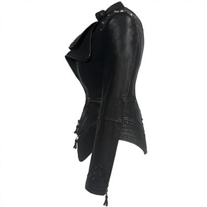 Punk Shoulder Pad Moto Jacket