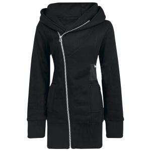 Zippered Plus Size Women's Hooded C..