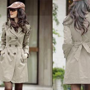 Slim Fit Trench Double-breasted Coa..
