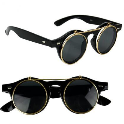 Unisex Flip Up Steampunk Sunglasses