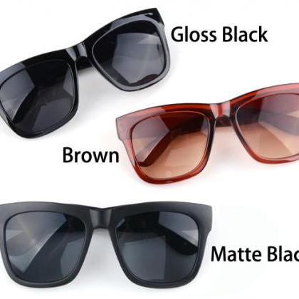 Cool Black Glasses Unisex Eyeglasse..