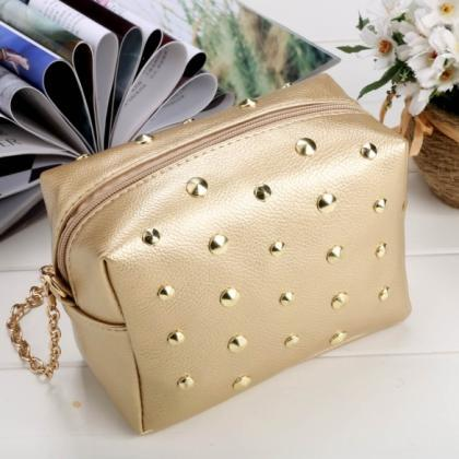 Women Synthetic Leather Shoulder Ch..