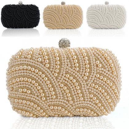 Fashion Lady Women Clutch Bag Pearl..