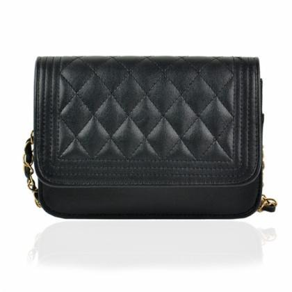 Diamond Quilted Leather Crossbody H..
