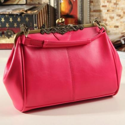 Women Retro Vintage Ladies Shoulder..