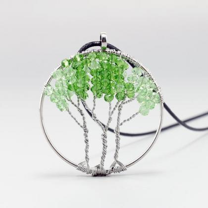Green Crystal Tree of Life DIY Leat..