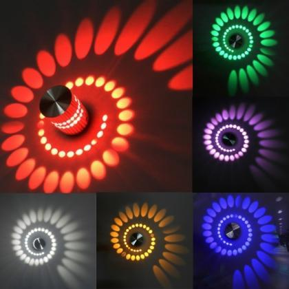 Spiral 3W LED Wall Hall Porch Walkw..