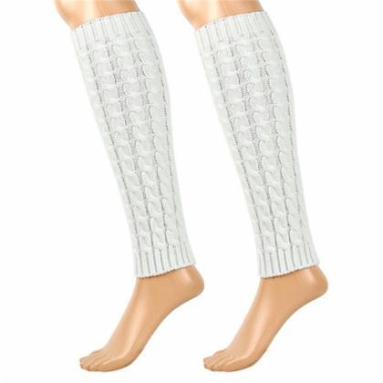 Women's Knit Crochet Winter Leg War..