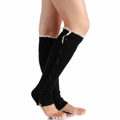 New Fashion Knitted Boot Sock Flat ..
