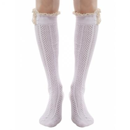 Women Knee Length Thigh High Stocki..