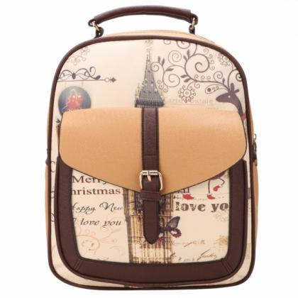 New Fashion Women Synthetic Leather Printing College Bag School Bags ... 42dc9f8a15799