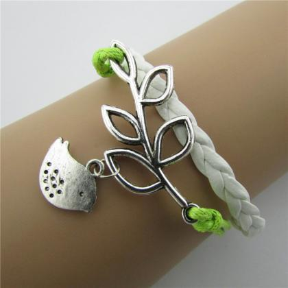 Retro Leaves Bird Strap Multilayer ..