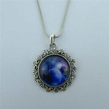 Silent Night Starry Sky Pendant Nec..