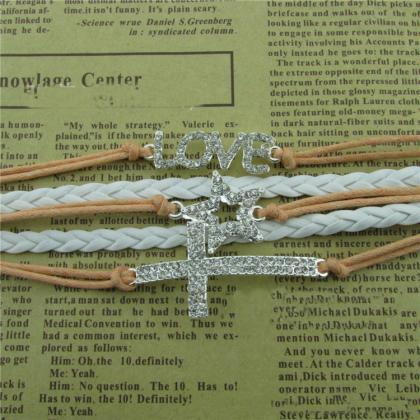 Crystal LOVE Cross Stars Leather Co..