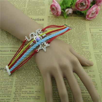 Beautiful Crystal Stars LOVE Leathe..