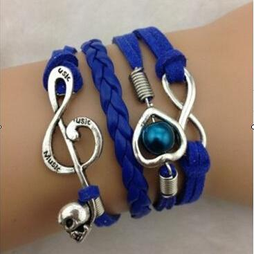 Heart Music Note Fashion Multilayer..