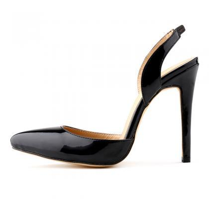 Patent Leather Pointed-Toe Sling Ba..