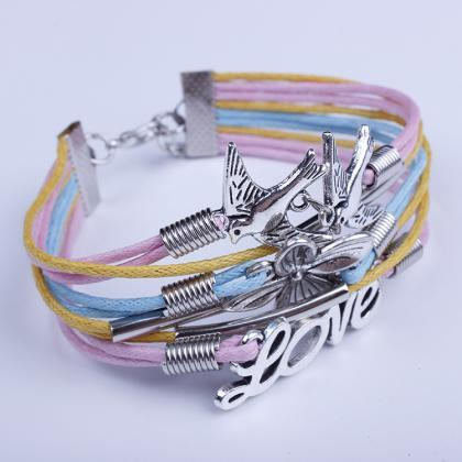 Dove Flower Colorful Woven Multilay..