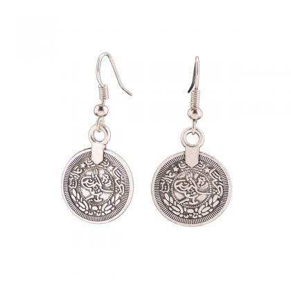Retro Coin Tassels Earrings