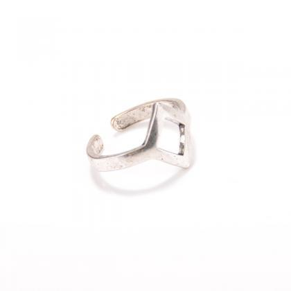 Exaggerated Snake Diamond Open Ring