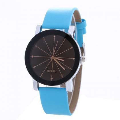 Simple Fashion Crystal Leather Watc..