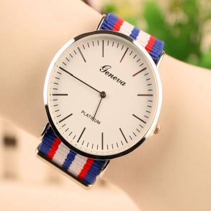 Simple Fashion Colorful Strap Watch