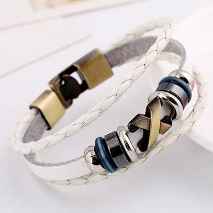 Retro Style Woven Multilayer Beaded..
