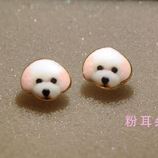 Korea Style Cute Teddy Face Earring..