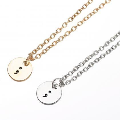 Simple fashion semicolon necklace p..