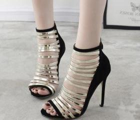 Straps High Stiletto..