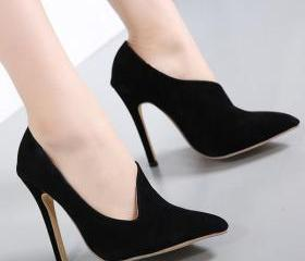 Suede Stiletto Heel ..