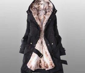 Faux Fur Warm Long H..