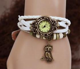 Owl Leather Bracelet..
