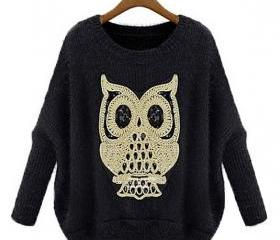 Loose Owl Pattern Sw..