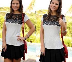 Lace Splicing Casual..