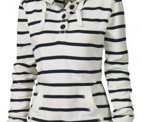 Pocket Striped Hoode..